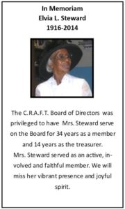 Elvia Steward - CRAFT Inc