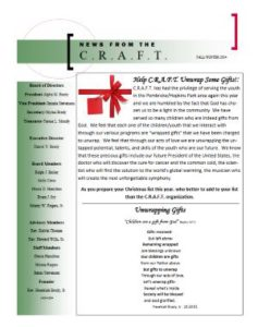 C.R.A.F.T. Fall & Winter 2014 Newsletter
