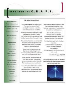 C.R.A.F.T. Fall & Winter 2015 Newsletter