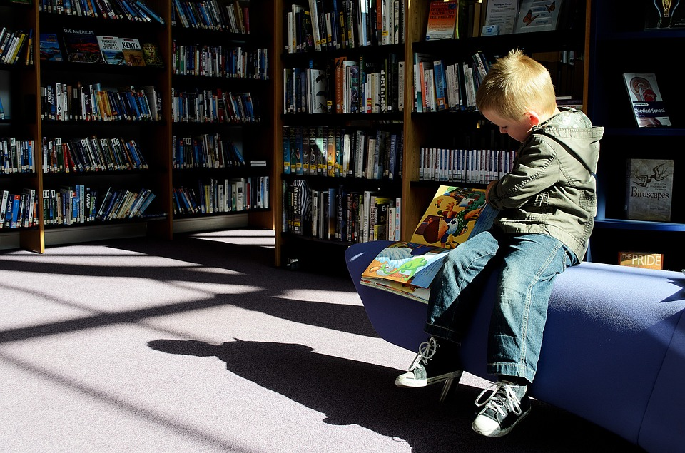 A Kid Reading